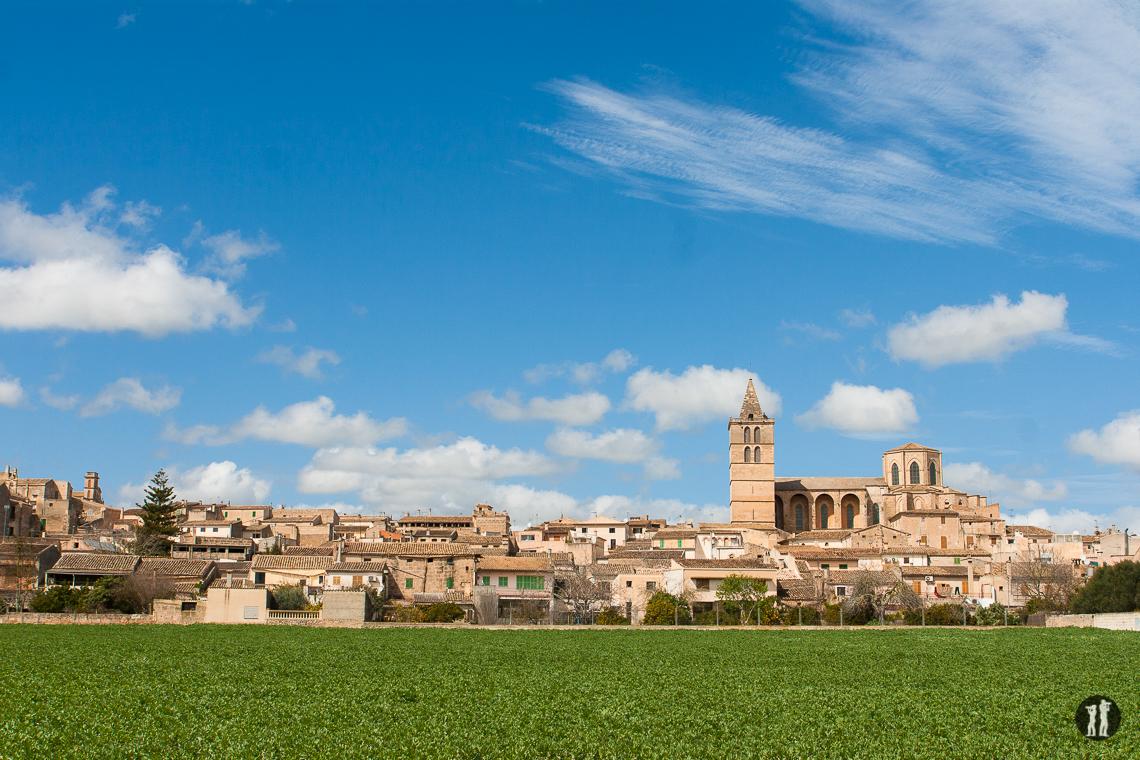 Mallorca - Inseldörfer - Sineu Stadansicht