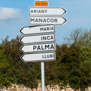 Mallorca - Inseldörfer - Wegweiser