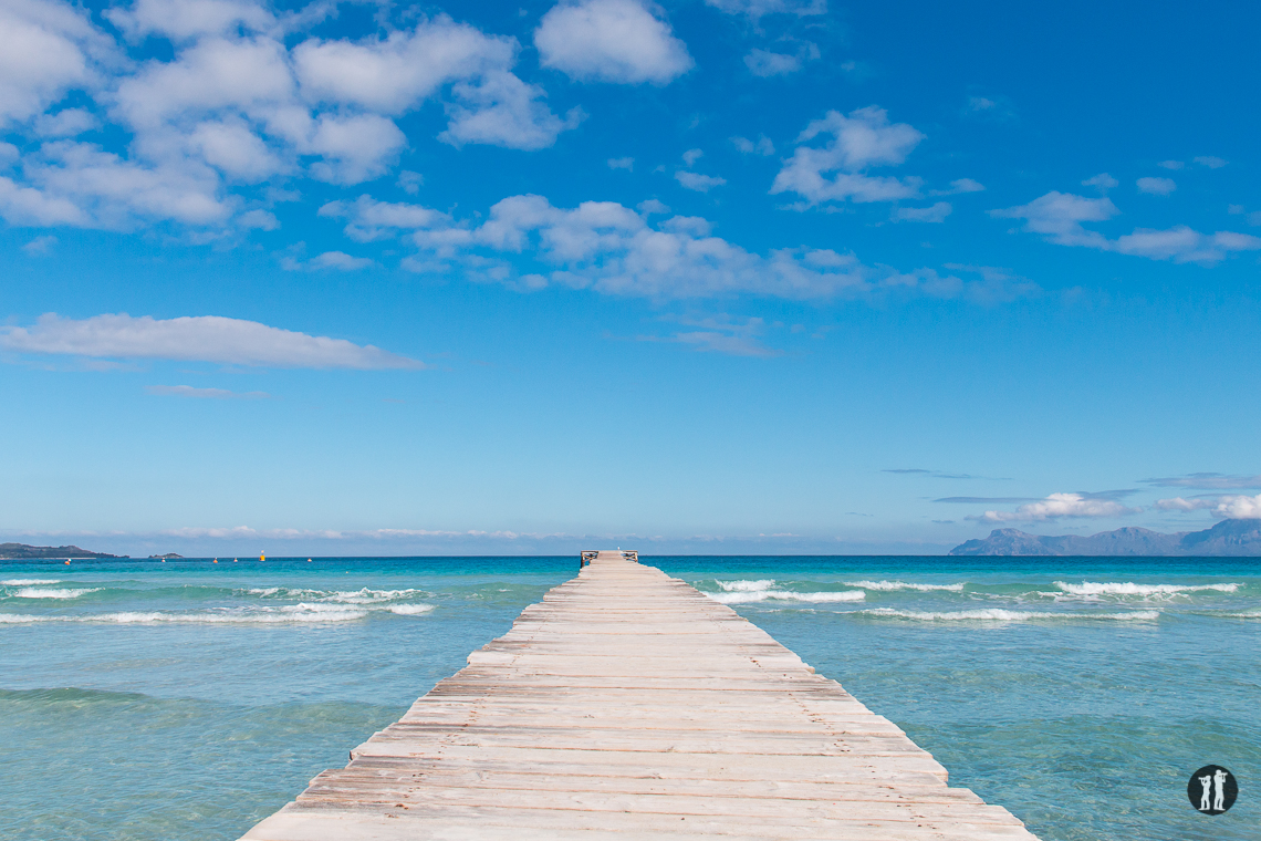 Bucht von Alcudia - Steg und Himmel